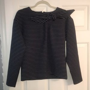 Banana Republic bow neck sweatshirt s nautical NWT
